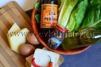 помойте и обсушите листья салата
