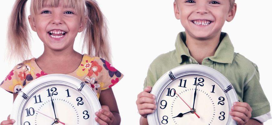учим детей пользоваться часами