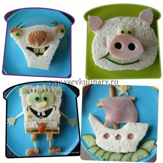 бутерброды на детский день рождения